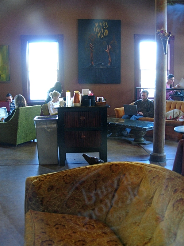 The Naked Lounge.  Coffeehouse furniture at its finest.