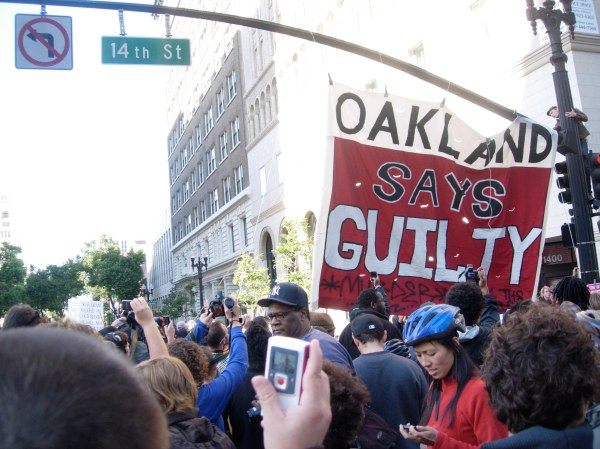 oakland says guilty banner