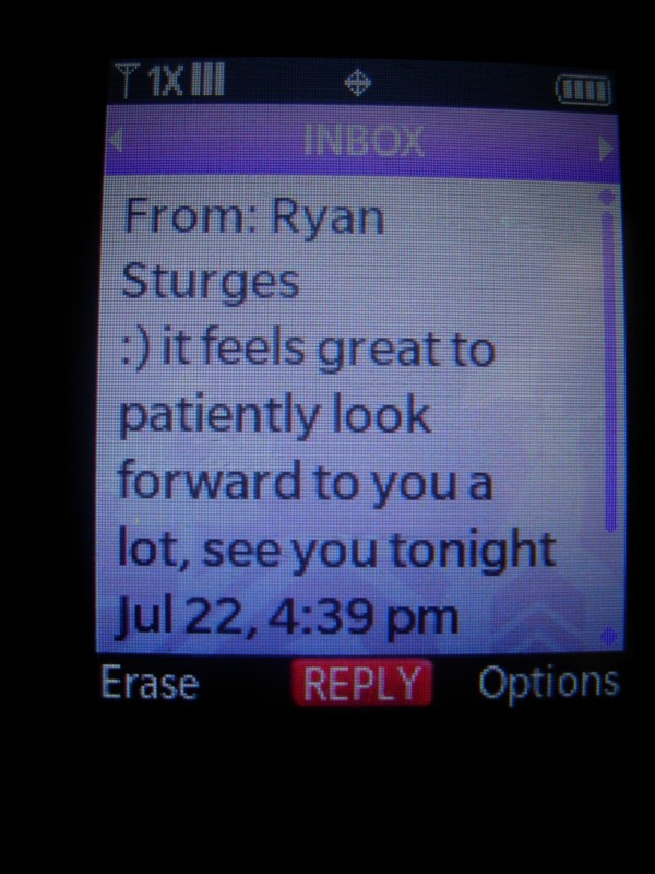 text from Ryan