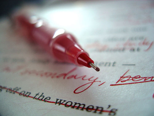 red_editing_pen