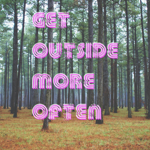 get outside more often graphic